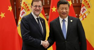 Spanish acting Prime Minister Mariano Rajoy (L) shakes hands with Chinese President Xi Jinping during their meeting on the sidelines of the G20 Summit at the West Lake State Guest House in Hangzhou, China, September 5, 2016. REUTERS/How Hwee Young/Pool