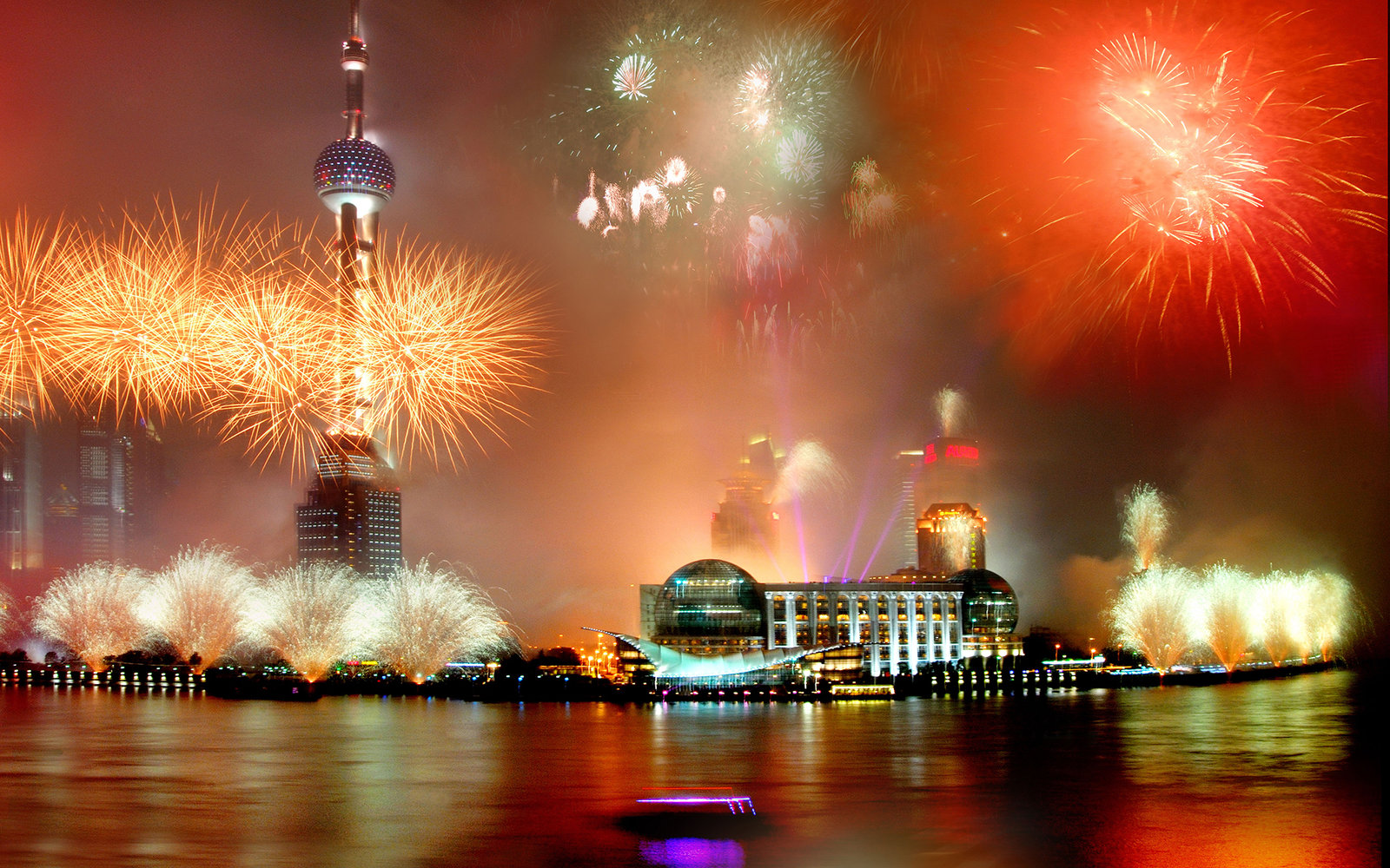 BCNC1G Fireworks light up the sky of Pudong,  <a href=