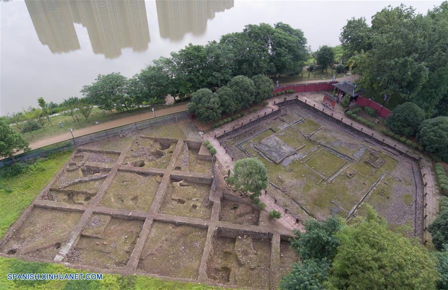 SICHUAN, mayo 18, 2018 (Xinhua) -- Vista del sitio del horno de un parque de la reliquia arqueológica del horno Qiong, en Qionglai de Chengdu, provincia de Sichuan, en el suroeste de China, el 18 de mayo de 2018. Un parque de la reliquia arqueológica del horno Qiong fue inaugurado el viernes en Qionglai. (Xinhua/Jiang Hongjing)