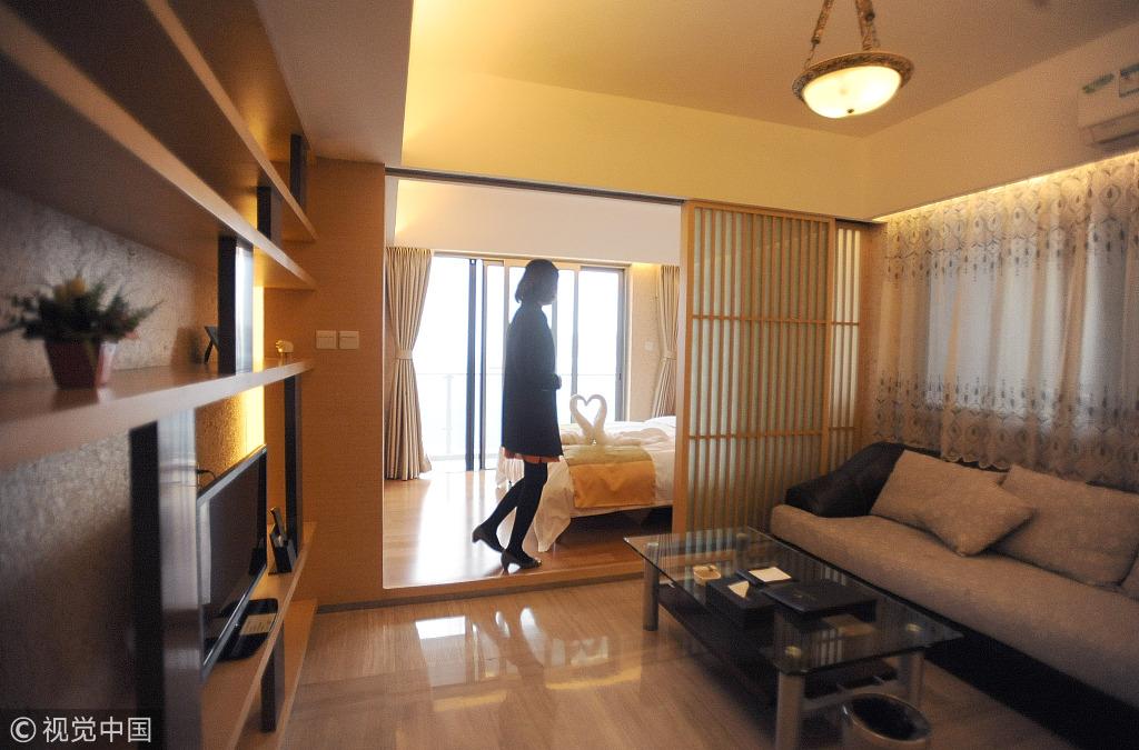 2012年10月20日,成都市鹭岛国际社区,途家网短租房度假公寓卧室。(要闻)成都商报记者王天志摄影
