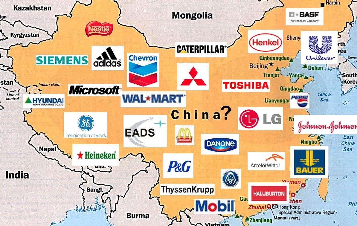 multinacionales en china